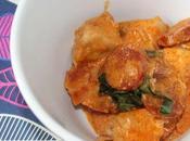 Sauté poulet chorizo, lard basilic