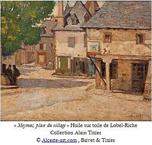 lobel-riche-meymac-place-village-peinture legende