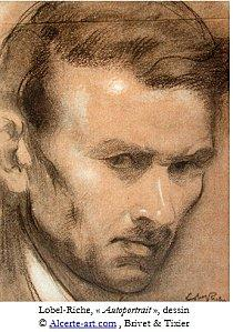 lobel-riche-autoportrait-dessin legende