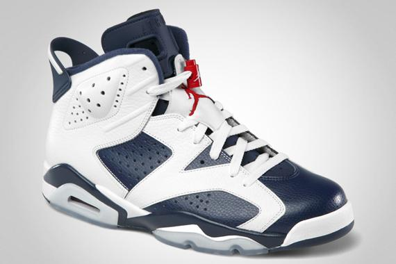 Air Jordan VI Olympic images officielles