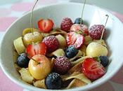 Tagliatelles crêpes fruits rouges