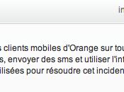 Orange panne perturbe réseau