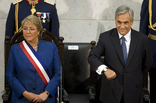 Bachelet et Piñera photo Globovision FlickR
