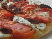 Tarte fine Tomate, Chèvre Chorizo