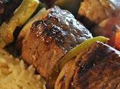 Brochette bœuf, marinade bière