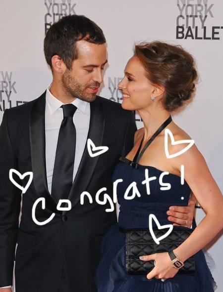 Natalie Portman Benjamin Millepied mariée wedding perez hilton