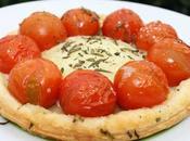 Tartelettes chèvre, tomates cerises romarin