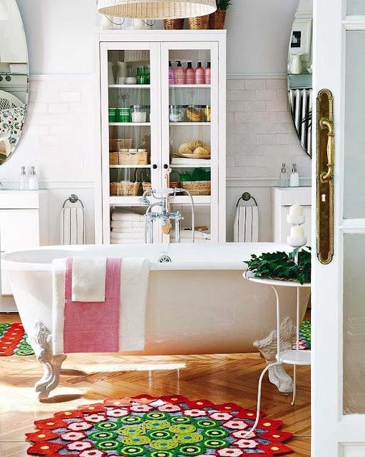 Salle de bain romantique - Paperblog