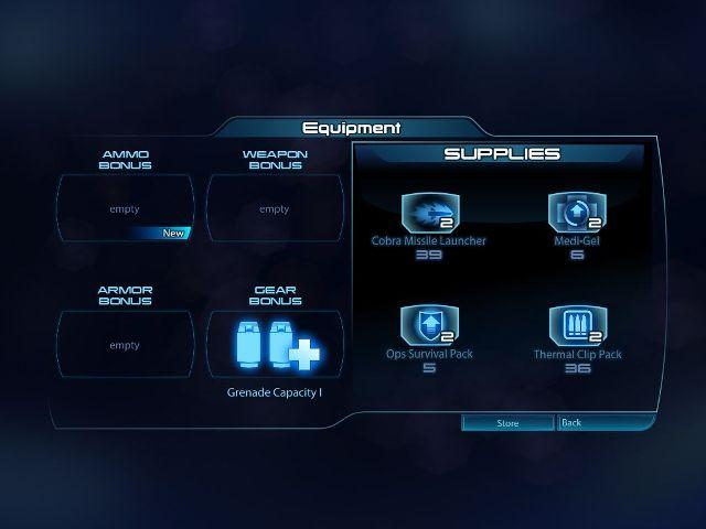 MassEffect3 equipment customizing