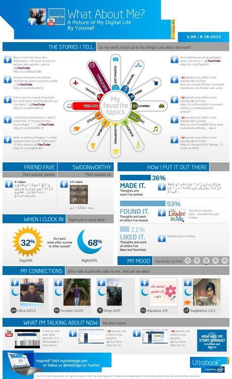 Créer une infographie de votre vie numérique avec «What About Me?»