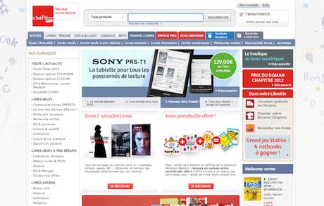 Chapitre.com devient la librairie du Sony Reader PRS-T2