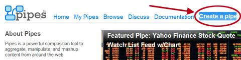 yahoo pipes, flux RSS