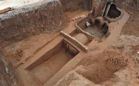 Découverte du tombeau d'un guerrier de la période des trois royaumes