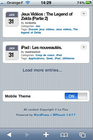 YIAOquHQKQGmLm6AsETtJC4fjMzUtKMD m Le Flux soffre un thème iPhone....