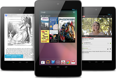 Android : la tablette Nexus 7 en commande en France