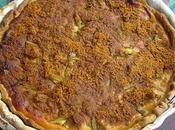 Tarte rhubarbe, miel, chèvre frais speculoos