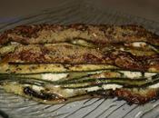 Mille feuilles courgettes basilic trois fromages