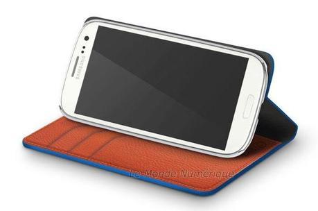 Etuis en cuir avec porte cartes-visites disponibles pour le smartphone Samsung Galaxy S3