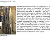 Pierre Gagnaire l'art menu octobre pendant Fiac 2012