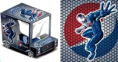 Papercraft imprimible y armable del camión de Pepsi Man. Manualidades a Raudales.