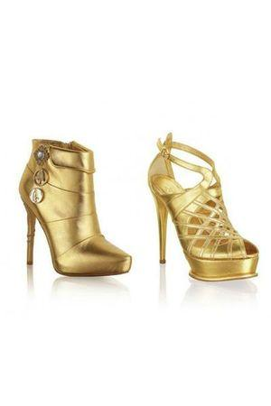 shoes gold anna-dello-russo