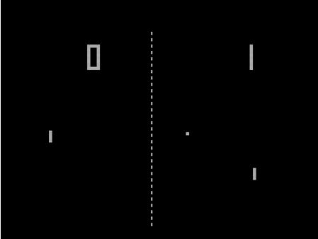 Pong Les meilleurs jeux vidéos vintages jouables  sur le Net.