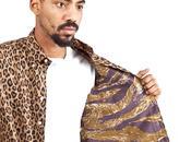 Gitman vintage tres bien tiger stripe/leopard shirt