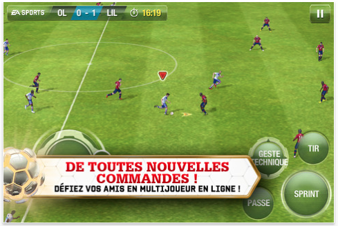 FIFA 13 disponible pour iPhone, iPod touch et iPad