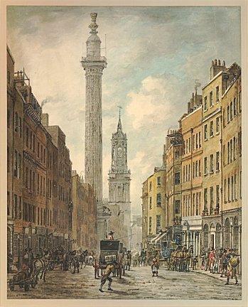 william marlow londres fish street monument c1795