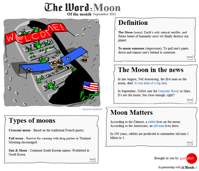 The Word of the Month (September 2012): MOON