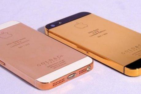 Un iPhone 5 en OR 24 carats présenté aux Emirats Arabes Unis
