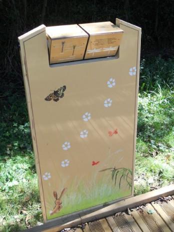 Mes illustrations posées au parc du gaucher à Flaviac !