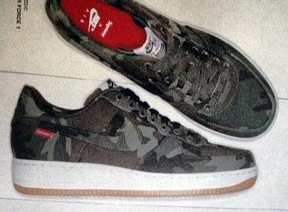 Supreme x Nike Air Force 1 Low Camo