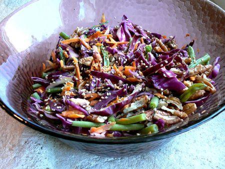 salade chou rouge pécan
