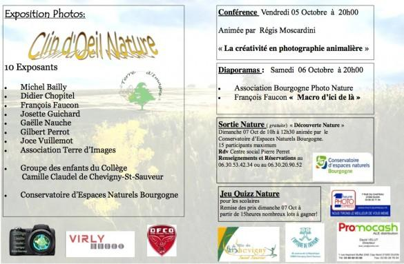 programme expo photo 585x383 Conférence et exposition de photo nature