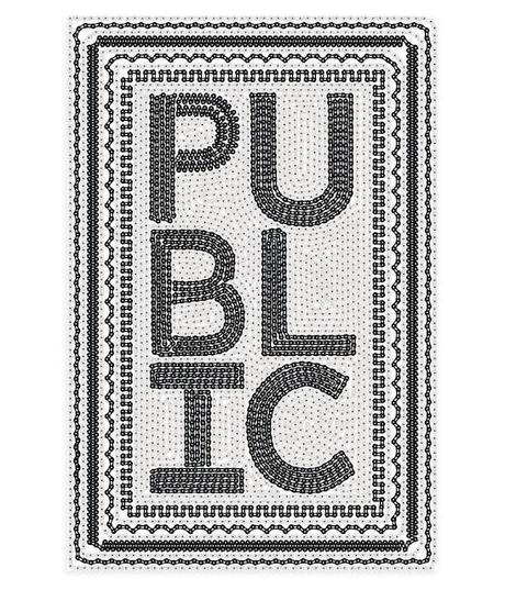 Une nouvelle affiche de promotion pour PUBLIC par Sagmeister & Walsh - Design et Cyclisme