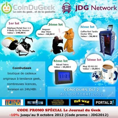 [Jeu-concours JDG] Gagnez des gadgets geek avec CoinDuGeek !