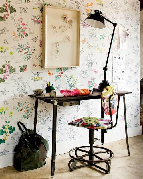 frais tendance et plein de charme le papier peint fleuri est paperblog. Black Bedroom Furniture Sets. Home Design Ideas