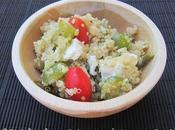 Salade quinoa chèvre raisins