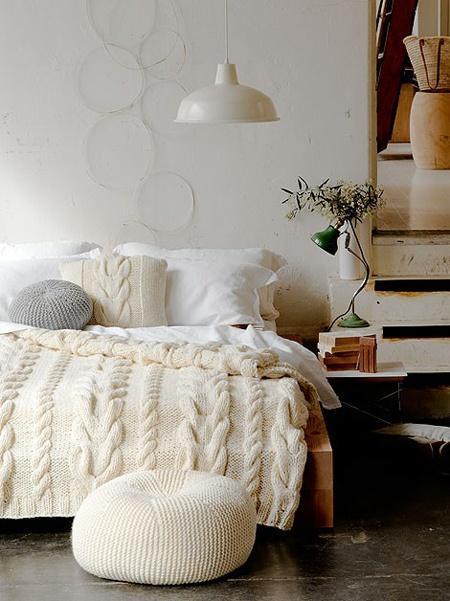 Couvre lit en laine tricotée   Paperblog
