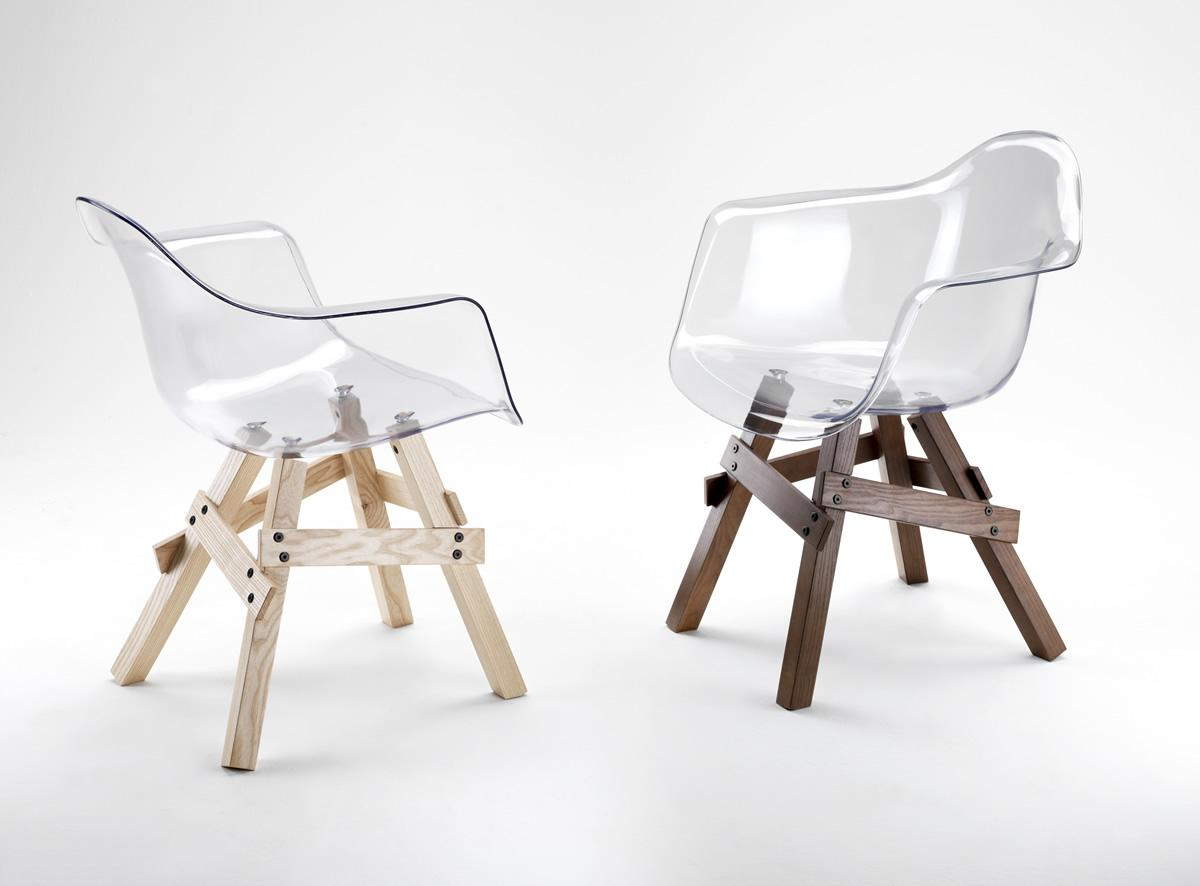 Chaises Icon Kubikoff transparentes