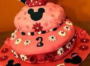 Gâteau d'anniversaire marbré Minnie pour Meline