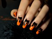 Nail d'halloween dégoulinant