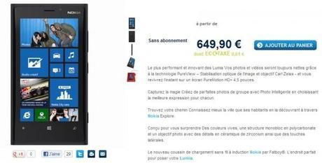 Le Nokia Lumia 920 en précommande