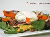 Salade automnale oeuf poché