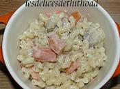 coquillettes façon risotto saumon fumé crème