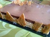 Bavarois poire/chocolat caramel nougatine