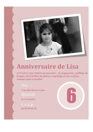 invitation anniversaire carte gratuite paperblog. Black Bedroom Furniture Sets. Home Design Ideas