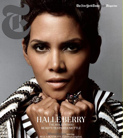 Halle Berry dans New York Times magazine