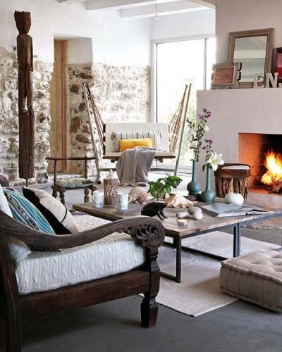 Une maison douce éclectique, un brin ethnique !